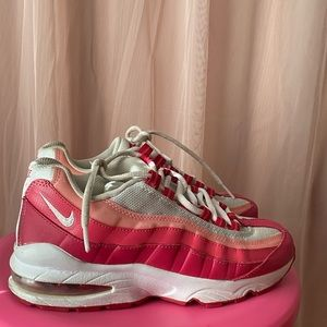 Pink white and sliver air max 95
